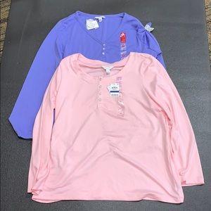 Charter Club 2Pc Pajama Shirts XL
